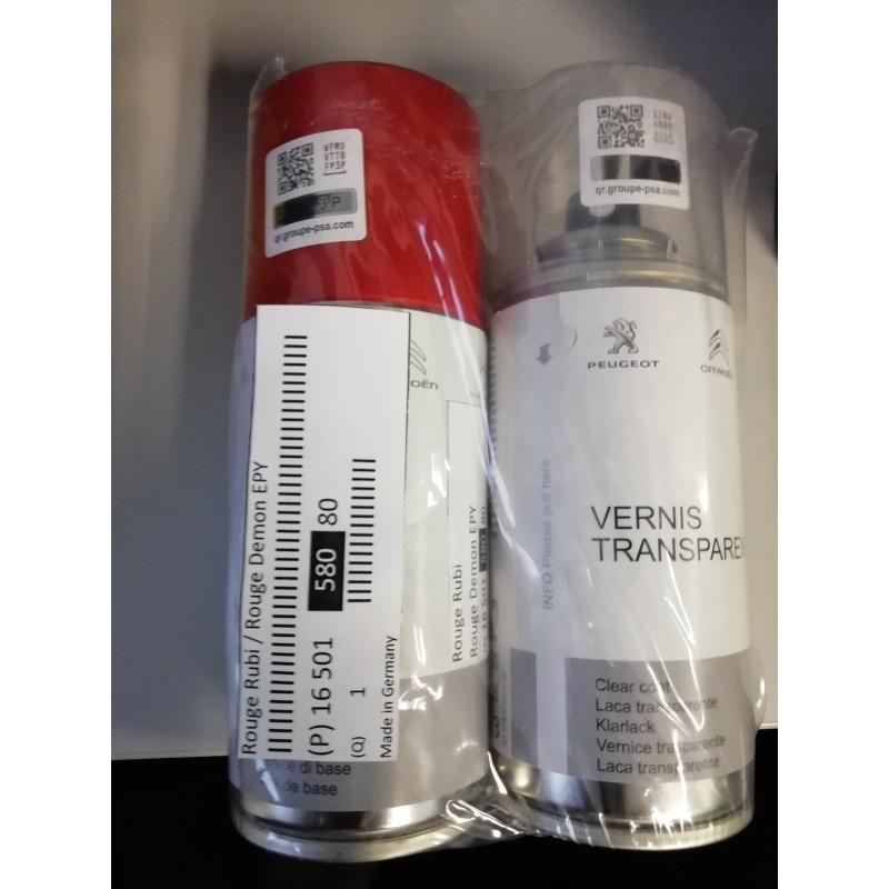 Bomboletta spray per ritocco vernice Peugeot, Citroën -GRIGIO CENDRE (ETS)