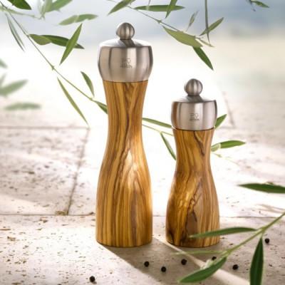 Peugeot FIDJI Salt Mill olive wood / stainless steel 20 cm