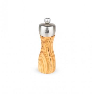 Peugeot Molinillo de sal FIDJI madera de olivo / acero inoxidable 15 cm