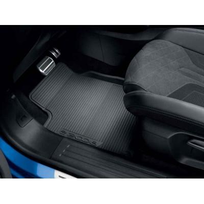 Set of rubber floor mats front Peugeot e-2008 (P24)