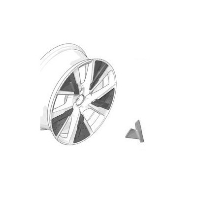 Decorative insert for alloy wheel CAMDEN Peugeot 208 (P21) - GRAY STORM