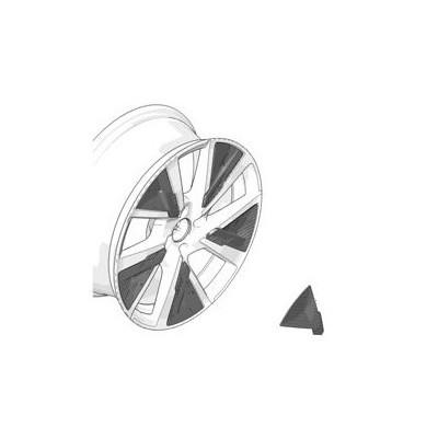 Dekoreinsatz für Leichtmetalfelge SHAW Peugeot e-208 (P21) - GRÜNE TURQUOISE