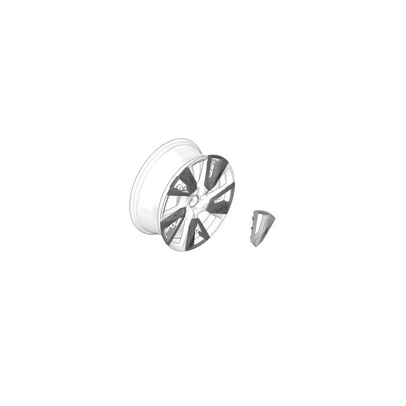 Inserto decorativo per cerchio in lega BUND Peugeot e-2008 (P24)