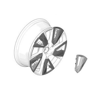 Decorative insert for alloy wheel EVISSA Black Pack Peugeot e-2008 (P24)