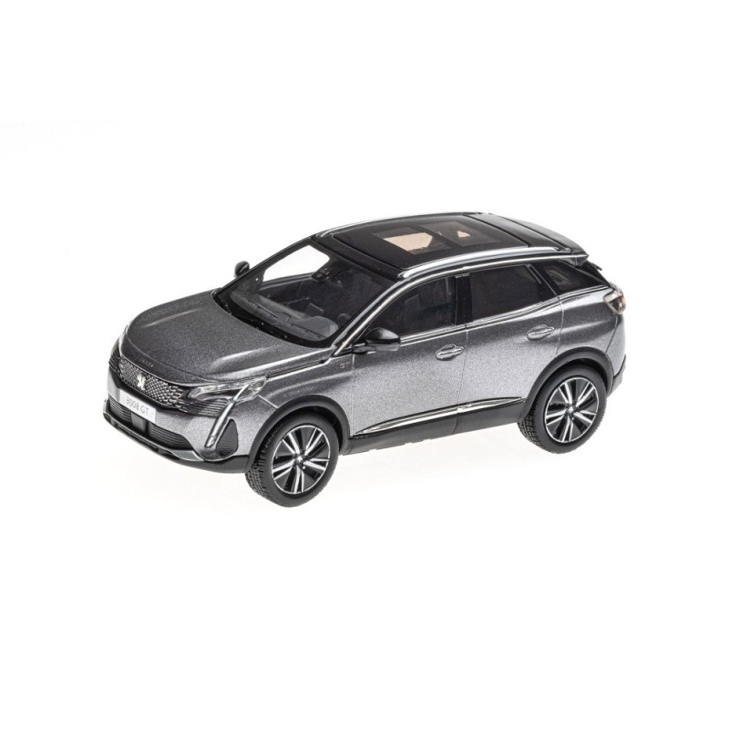 Model Peugeot 3008 GT SUV (P84) 2020 grau Platinium 1:43