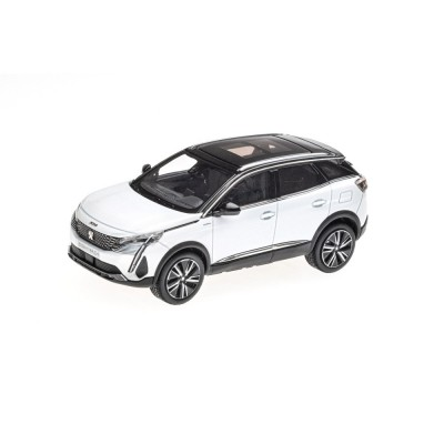 Model Peugeot 3008 GT HYBRIDE SUV (P84) 2020 white Nacré 1:43