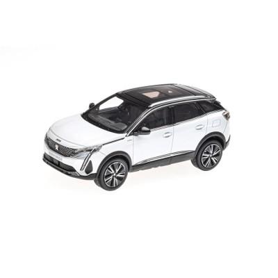 Modelo Peugeot 3008 GT HYBRIDE SUV (P84) 2020 blanco Nacré 1:43