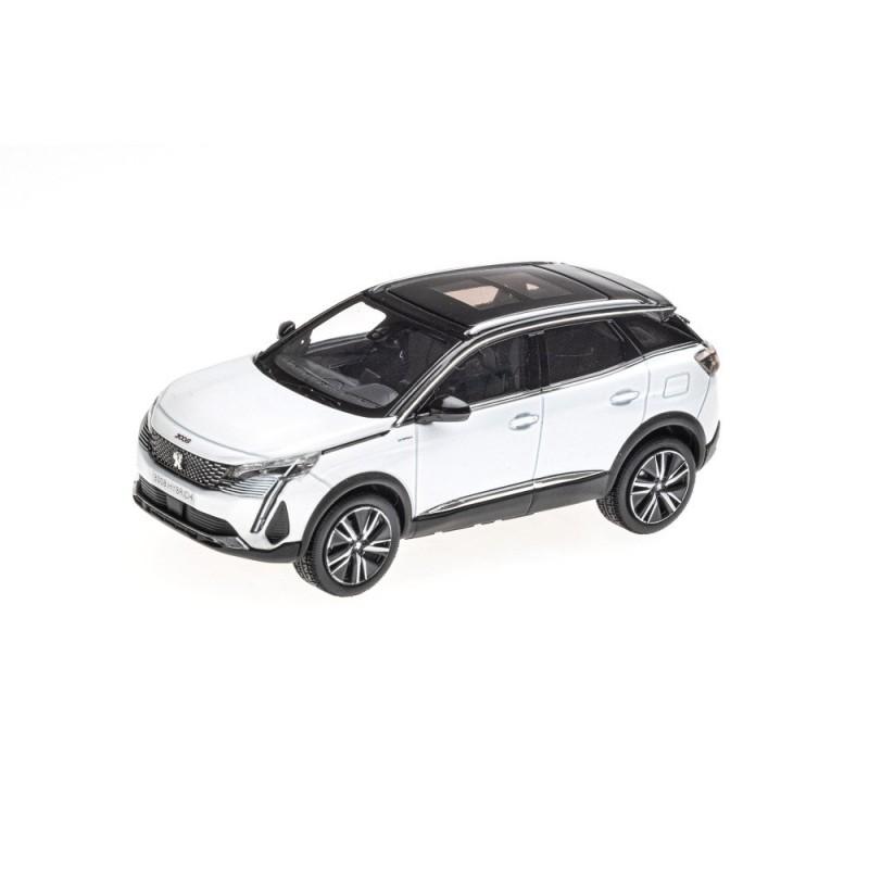 Model Peugeot 3008 GT HYBRIDE SUV (P84) 2020 bílá Nacré 1:43