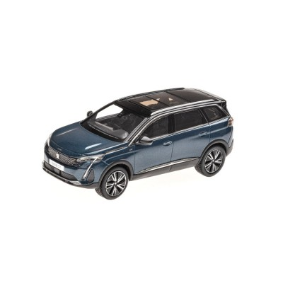 Modelo Peugeot 5008 GT SUV (P87) 2020 azul Celebes 1:43