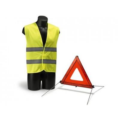 Kit triangolo presegnalazione e gilet di sicurezza
