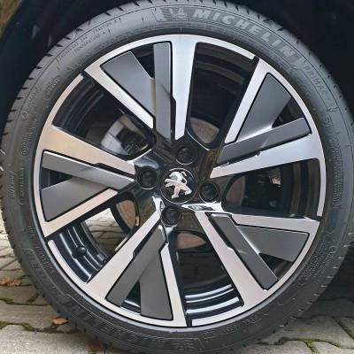 Dekorativní vložka alu kola CAMDEN Peugeot 208 (P21) - ŠEDÁ STORM