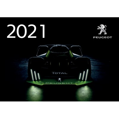Calendario oficial de pared Peugeot 2021