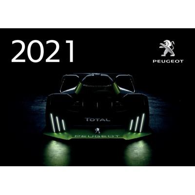 Oficiální nástěnný kalendář Peugeot 2021