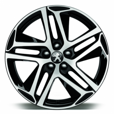"Serie di 4 cerchi in lega Peugeot SAPHIR NOIR 18"" - 308 (T9), 308 SW (T9)"