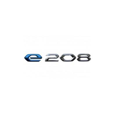 "Monograma ""e-208"" trasero Peugeot e-208 (P21)"