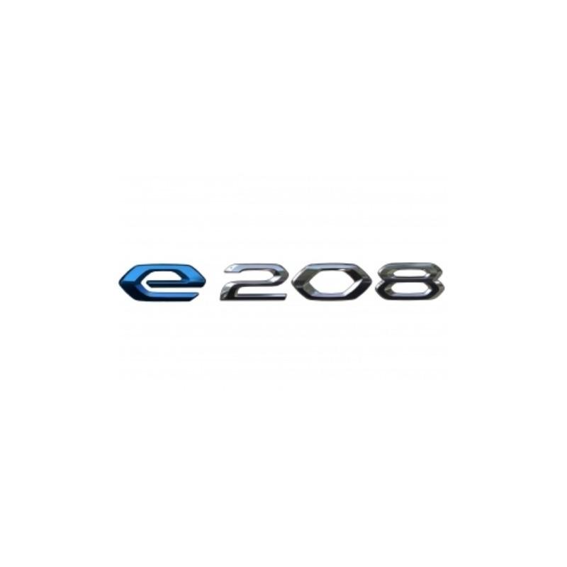 """Štítok """"e-208"""" zadná časť vozidla Peugeot e-208 (P21)"""