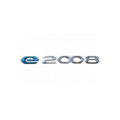 "Monograma ""e-2008"" trasero Peugeot e-2008 (P24)"