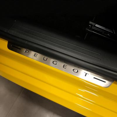 Front door sill trim stainless steel Peugeot 208 (P21)