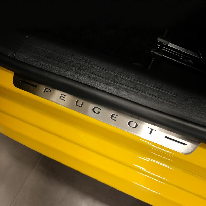 Chránič prahu predných dverí z nerezu Peugeot 208 (P21)