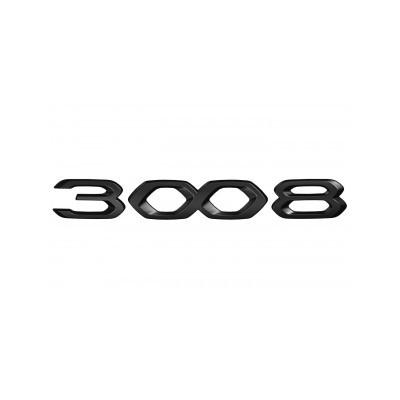 """Monogrammo """"3008"""" anteriore NERO Peugeot 3008 SUV (P84) 2020"""