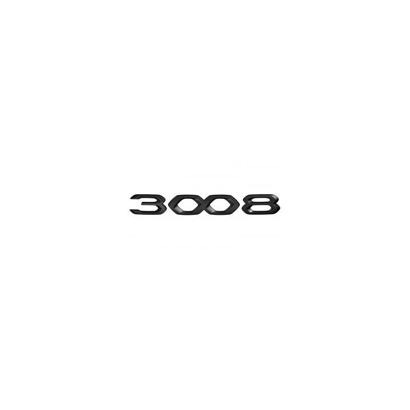 """Štítok """"3008"""" zadná časť vozidla ČIERNY Peugeot 3008 SUV (P84) 2020"""