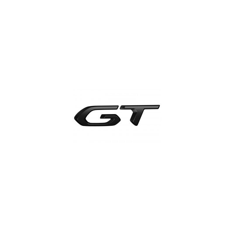 "Badge ""GT"" left side of vehicle BLACK Peugeot 3008 SUV (P84), 5008 SUV (P87) 2020"