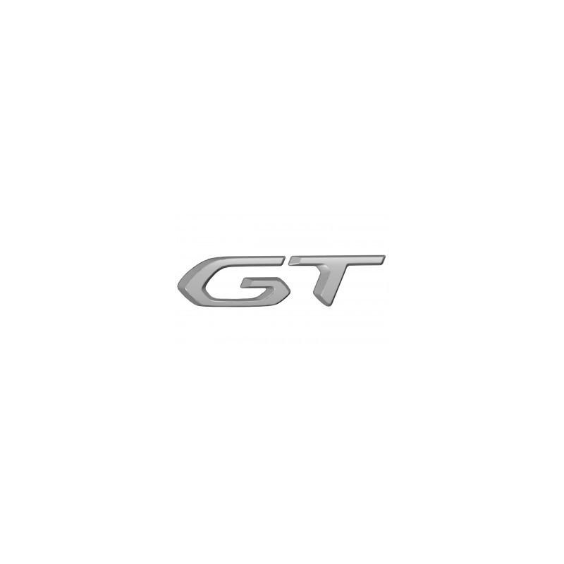 """Štítek """"GT"""" levý bok vozu ŠEDÝ Peugeot 3008 SUV (P84), 5008 SUV (P87) 2020"""