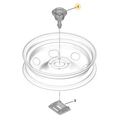 Spare wheel support fix screw