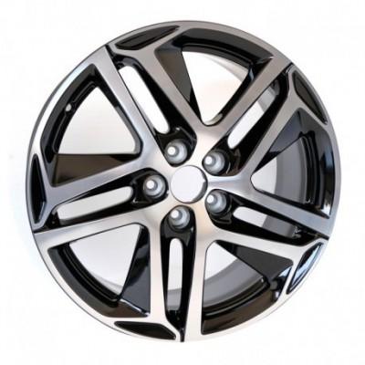 """Set of 4 alloy wheels Peugeot SAPHIR NOIR 18"""" - 308 (T9), 308 SW (T9)"""