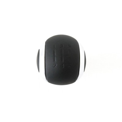 Gear lever knob BVM5 black leather and chrome Peugeot