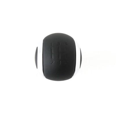 Hlavica radiacej páky BVM5 čierna koža a chróm Peugeot
