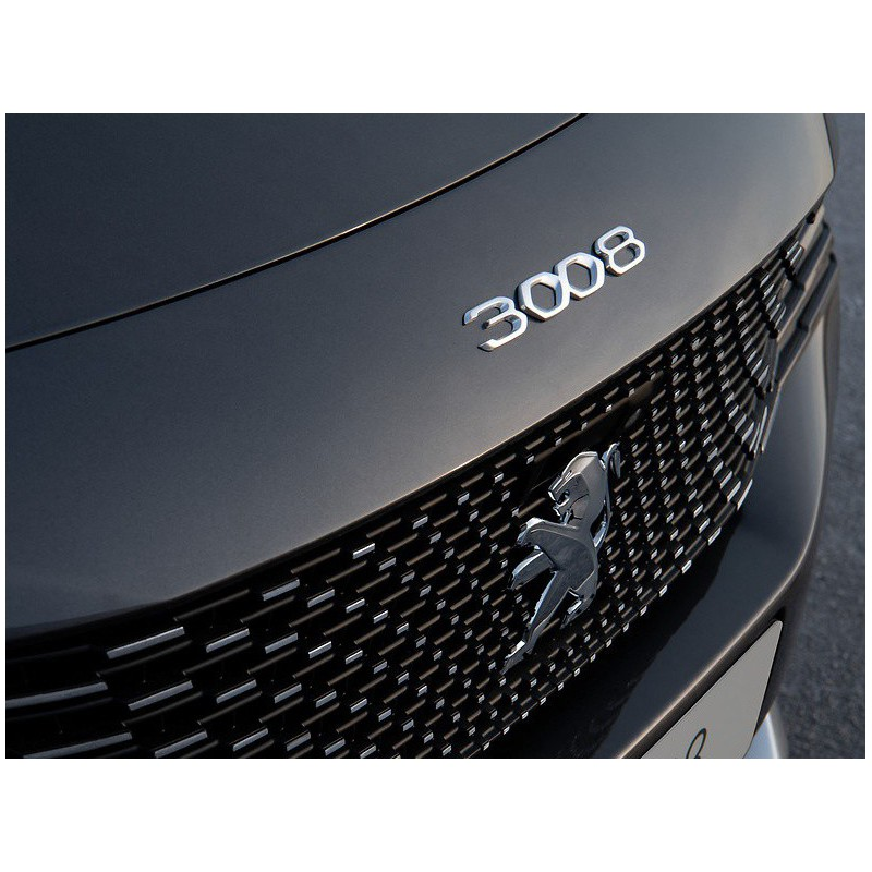 """Badge """"3008"""" front GREY Peugeot 3008 SUV (P84) 2020"""