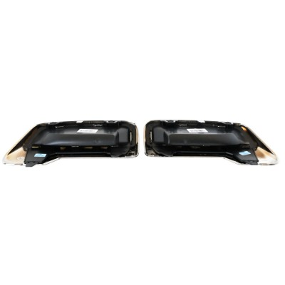 Set of 2 Chromed Exhaust Tailpipes Peugeot - New 3008 (P84), New 5008 (P87)