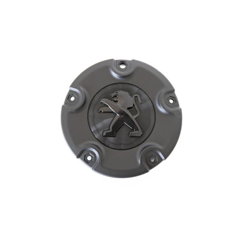 Center cap for sheet metal wheel Peugeot black cornelie