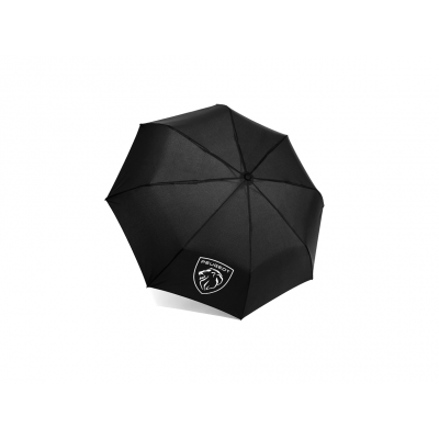 Skladací dáždnik Peugeot BRAND LOGO ARUDY BLACK