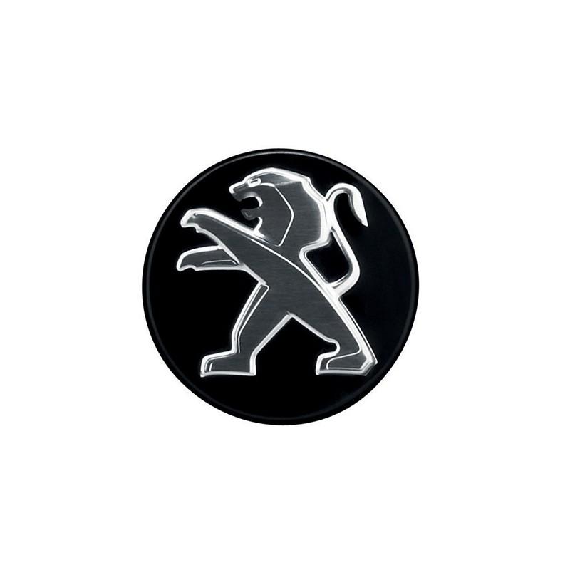 Stredové krytky Peugeot - čierne