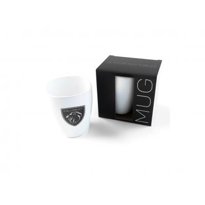 Porcelain mug Peugeot BRAND LOGO white