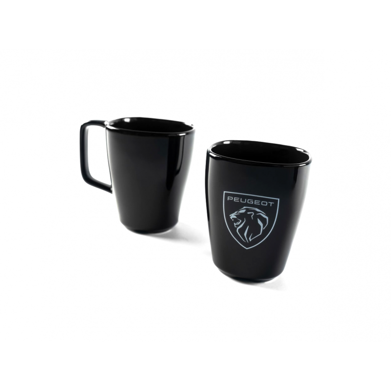 Porcelain mug Peugeot BRAND LOGO black