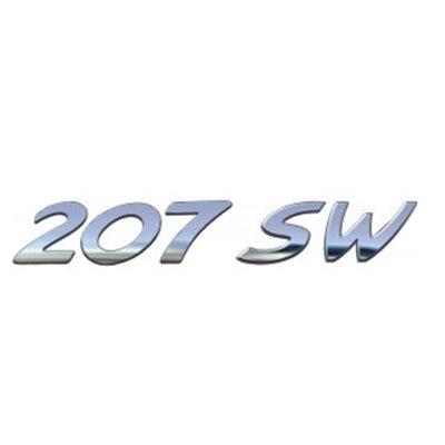 """Badge """"207 SW"""" rear Peugeot 207 SW"""