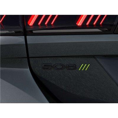 "Badge ""508"" rear BLACK Peugeot 508 (R8)"