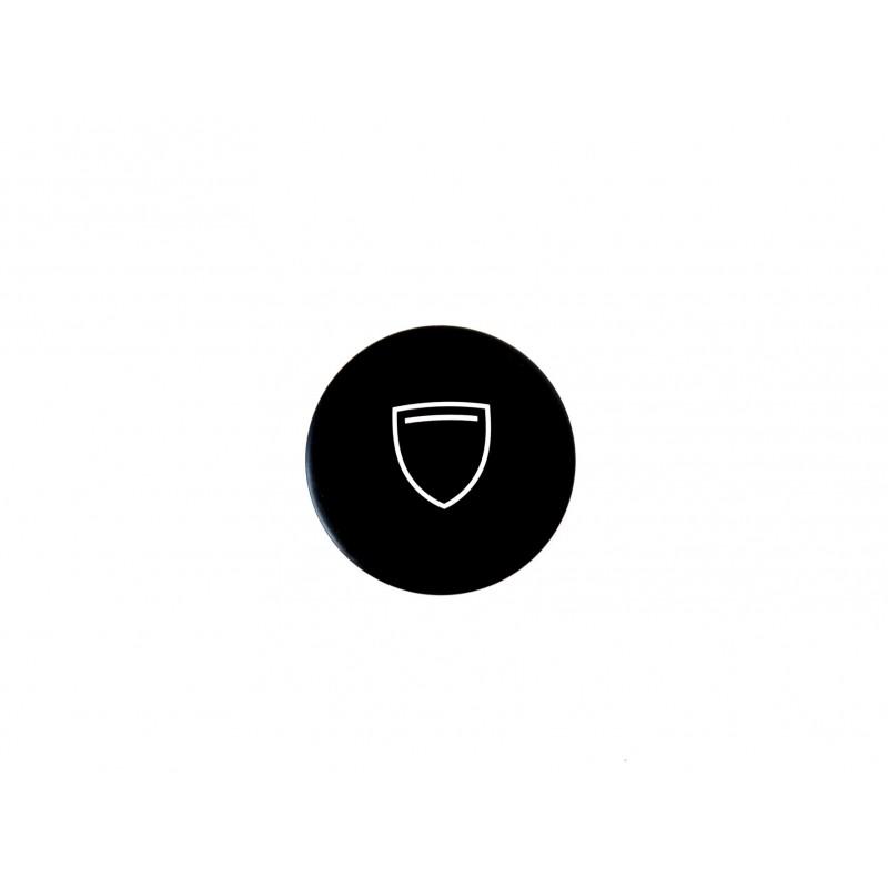 Black magnetic badge without Peugeot logo