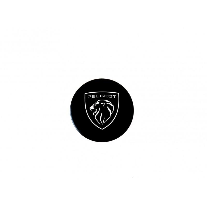 Black magnetic badge with Peugeot logo