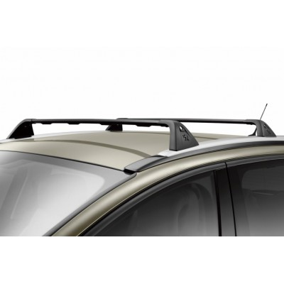 Set of 2 transverse roof bars Peugeot 5008 with trims