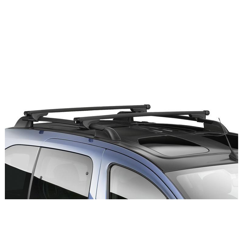 Střešní nosiče Peugeot Partner (Tepee) B9, Citroën Berlingo Multispace (B9) s tyčemi, prosklená střecha