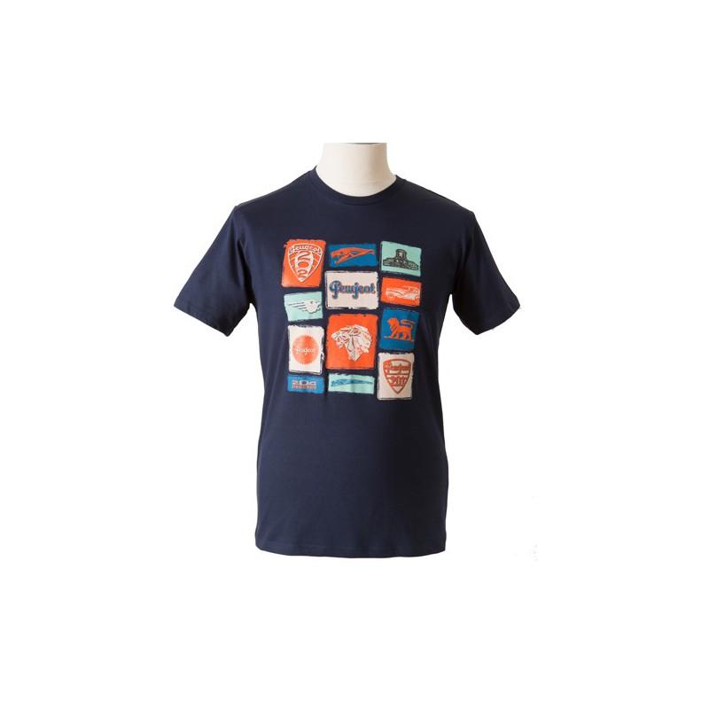 """Modré tričko Peugeot """"EMOTION"""""""