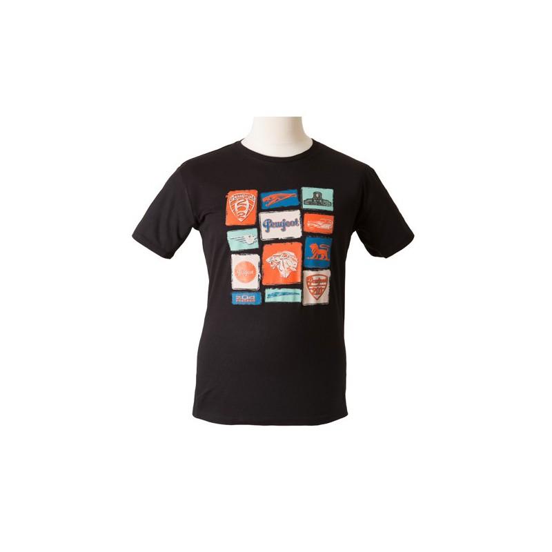 """Černé tričko Peugeot """"EMOTION"""""""