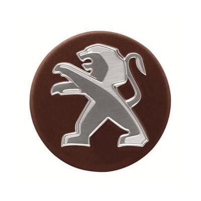 Juego de 4 embellecedores centrales de rueda Peugeot - marrón